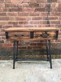 This is our new console side table We make custom furniture for homes, bars and…