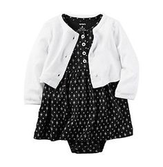 Carter's® Baby Girls' 2-Piece Geo Dress And Cardigan Set