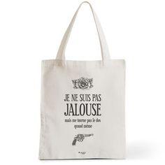 Tote Bag Rock my Citron,  Jalouse, Cadeaux Fêtes, Anniversaires, Naissances