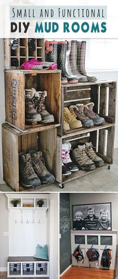 Small and Functional DIY Mud Rooms • Lots of ideas, projects and tutorials!