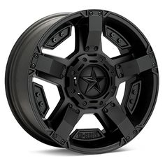"""I'm getting these on my vehicle in a few days!! Thanks hubby!! """"Rockstar 2"""" wheels. Matte black"""