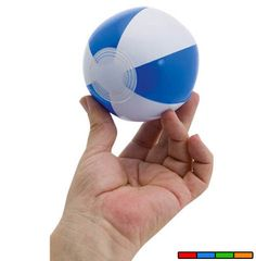 Pelota de playa mini en PVC. Disponible en 4 colores. Desde 0,2 € en www.areadifusion.com
