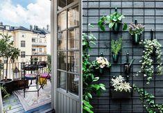 8 smarte og pladsbesparende tips til den lille altan - Jane Outdoor Spaces, Outdoor Living, Tiny Balcony, Balkon Design, Small Apartments, Home Deco, Terrace, Pergola, Home And Garden
