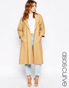 ASOS+CURVE+Kimono+Sleeve+Coat