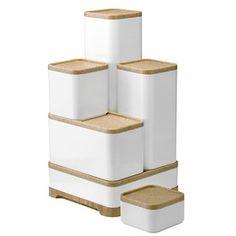 Rig-Tig förvaringslådor - vit 10 x 10 x cm - RigTig by Stelton Stackable Storage Boxes, Kitchen Storage Boxes, Modular Storage, Kitchen Storage Solutions, Plastic Box Storage, Laundry Room Storage, Living Room Storage, Food Storage, Kitchen Containers