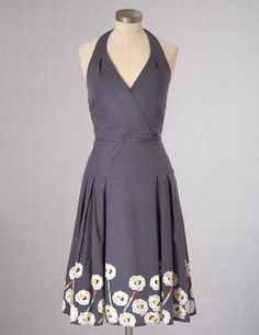 I've spotted this @BodenClothing Fifties Halterneck Dress Pewter Boarder Floral