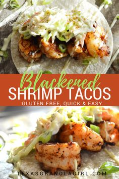 Blackened Shrimp tacos are spicy, cool, super delish and take literally minutes to through together. The cast of characters is small and simple but absolutely perfect! Gluten Free!