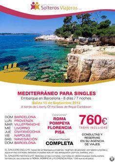 Crucero para singles por el mediterraneo. 15 de Septiembre desde Barcelona. - http://zocotours.com/crucero-para-singles-por-el-mediterraneo-15-de-septiembre-desde-barcelona-2/