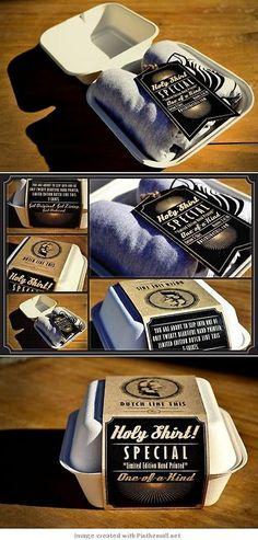 Nice Idea to pack T-shirt or Boxer ! Packaging Box  Loïc vdH