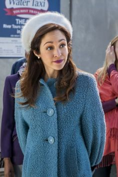 Such a cute look from the movie Love at the Thanksgiving Parade.