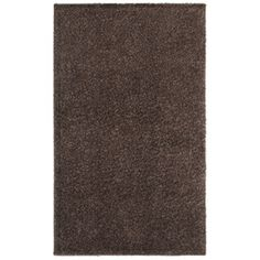 Shaw Living�Shaggedy Shag 7-ft 6-in x 10-ft Rectangular Brown Solid Area Rug