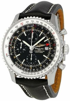 Breitling Men's A2432212/B726 Navitimer World Watch Breitling. $5241.00. Case diameter: 46 mm. Quality Automatic movement; Functions without a battery; Powers automatically with the movement of your arm. Sapphire crystal. Water-resistant to 99 feet (30 M). Stainless-steel case; Black dial; Date function