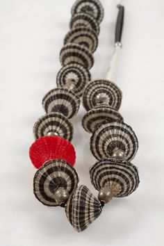 Chilean horsehair woven bead necklace, Chantal Bernsau