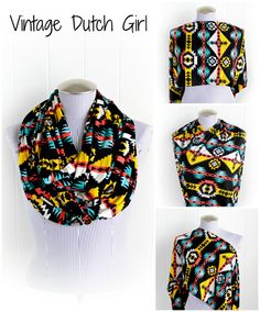 Another new Tribal Print Infinity Nursing Cover Scarf! I LOVE this fabric! :)  by Vintage Dutch Girl Etsy