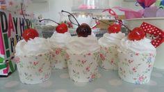 Hot cherry sundue cupcake bathbombs