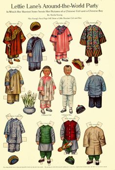 LETTIE LANE's Around-The-World Party <> Pictures of Chinese Children Sent by Married Sister <> Artist Shelia Young
