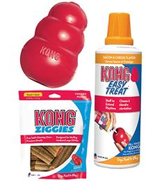 KONG Classic Dog Toy with Bacon Cheese Chew Kit (Extra Large) -- Hurry! Check out this great product : Kong dog toys