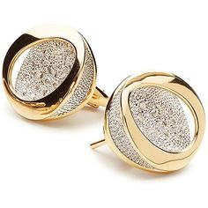 Antonini 18K Yellow Gold Atolli Diamond Stud Earrings (20 475 PLN) ❤ liked on Polyvore featuring jewelry, earrings, diamond stud earrings, gold earrings, gold stud earrings, 18 karat gold earrings and stud earrings