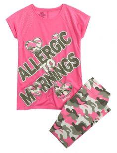Gymnast Pajama Set | Girls Pajamas Pjs, Bras & Panties | Shop ...