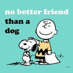 No better friend than a dog--so true! | #Peanuts #Snoopy #dog