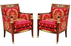 french antique armchair