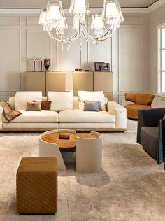 Bentley Home - Wellington sofa and Butterfly armchair www.luxurylivinggroup.com #Bentley #LuxuryLivingGroup