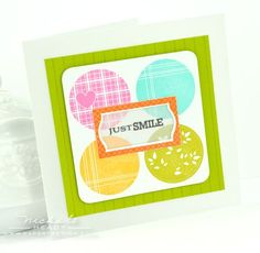 Just Smile Card by Nichole Heady for Papertrey Ink (April 2012)
