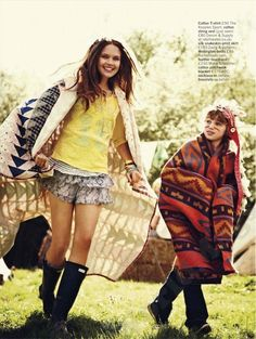 """""""I'm with the Band"""": Asa Engström Goes Music Festival Hippie Chic by Chris Craymer for Glamour UK"""