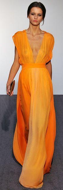 ombre orange / Halston