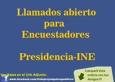Trabajo en Uruguay: Llamado encuestadores Presidencia - INE