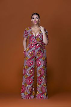African Print Malawi Jumpsuit| Grass-Fields| Vibrant colors to make a statement