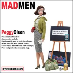 Peggy Olson  'Mad Men' Barbie Doll Photo Series Showcases Characters' Darker Sides (PHOTOS)