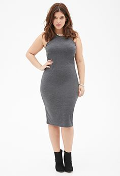 Heathered Knit Midi Dress | FOREVER21 PLUS - 2000135669  Just bought this dress and can't wait to wear it!