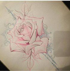'S Photos Rose Tattoos On Wrist, Flower Tattoos, Body Art Tattoos, Hand Tattoos, Rose Drawing Tattoo, Tattoo Sketches, Tattoo Drawings, Tribal Dragon, Engel Tattoos