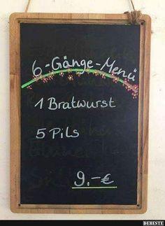 6-Gänge-Menü..   Lustige Bilder, Sprüche, Witze, echt lustig