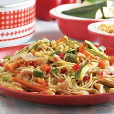 Try this pasta salad dressed in flavors of ginger for the ultimate Asian Summer Salad.