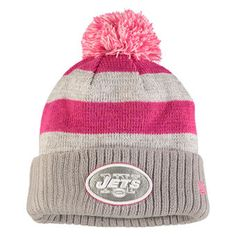 45ff9ab1c Women s Green Bay Packers New Era Gray 2016 Breast Cancer Awareness  Sideline Cuffed Pom Knit Hat