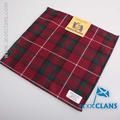 Stuart of Bute Tartan Pocket Square. Free worldwide shipping available.
