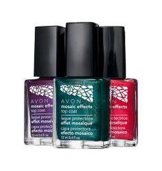 Avon: Mosaic Effects Top Coat  $1.99 www.BlushandLipstick #nails #fashion #women  www.youravon.com/denisehatcher