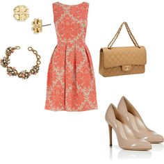 """coral dress"""