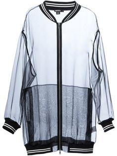 DKNY transparent bomber jacket