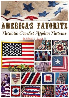 20 of Americas Favorite Patriotic Crochet Afghan Patterns + Granny Squares