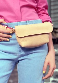 Clare Vivier Leather Bum Bag   Natural   & Other Stories