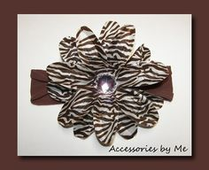 Zebra Brown Glitzy Lily Flower Interchangeable by accessoriesbyme, $13.99