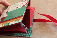 Fancy fold 2016 Stampin' Up! Christmas Card case from Song of My Heart Stampers - full pics and ink to video on my blog. Great to include a photo in. Claire Daly Stampin' Up! Demo Melbourne Australia.