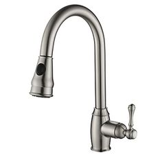 PHASAT+Contemporary+Pull-out/Pull-down+Deck+Mounted+Pullout+Spray+with+Ceramic+Valve+++for+Nickel+Brushed+,+Kitchen+–+EUR+€+71.57