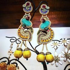 Our Napoli statement earrings on display at G'local, Rome  #doricsengeri #statementearrings #glocal #rome #jewelrystore #doriearrings