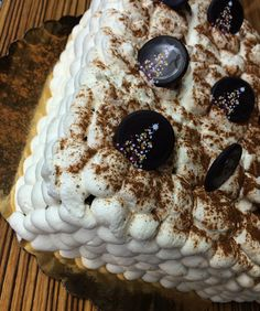 #Classic #holiday drink made into a cake that will put you in to the holiday spirits: #Eggnog #Torte - come try a slice today! #cake #chocolate #decadent #boulder #colorado