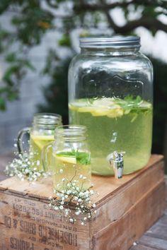 mint-lemon lemonade homemade.