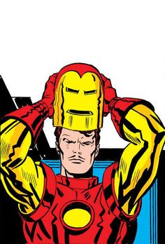 Iron Man Armor Model 4 by Jack Kirby Jack Kirby, Marvel Heroes, Marvel Avengers, Iron Man Art, Marvel Cards, Comic Book Collection, Superhero Characters, Man Thing Marvel, Nerd